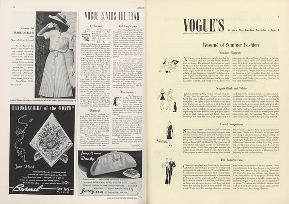 VOGUE'S: Advance Merchandise Portfolio • June 1 Resumé of Summer Fashion
