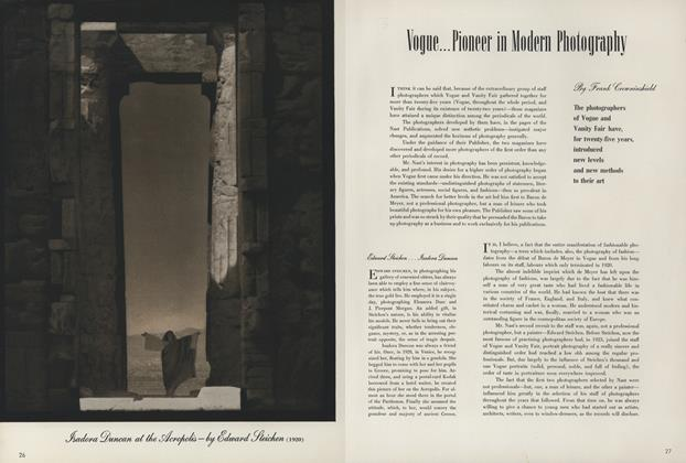 Vogue...Pioneer in Modern Photography