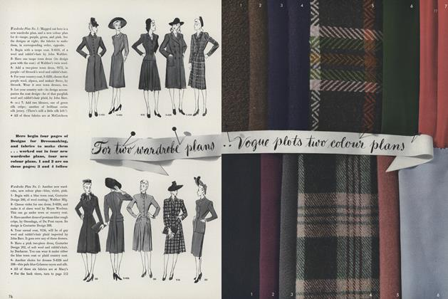 For Two Wardrobe Plans...Vogue Plots Two Colour Plans