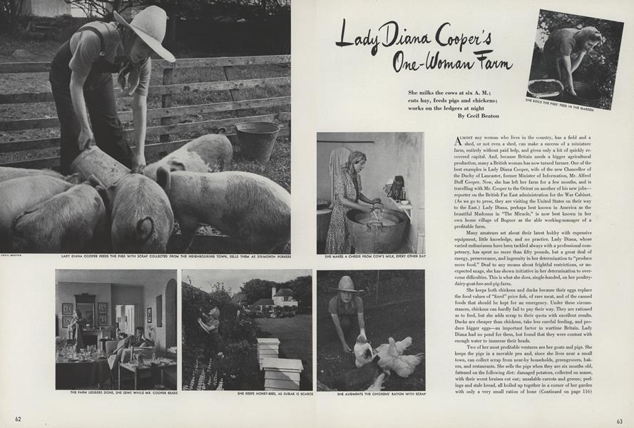 Lady Diana Cooper's One-Woman Farm