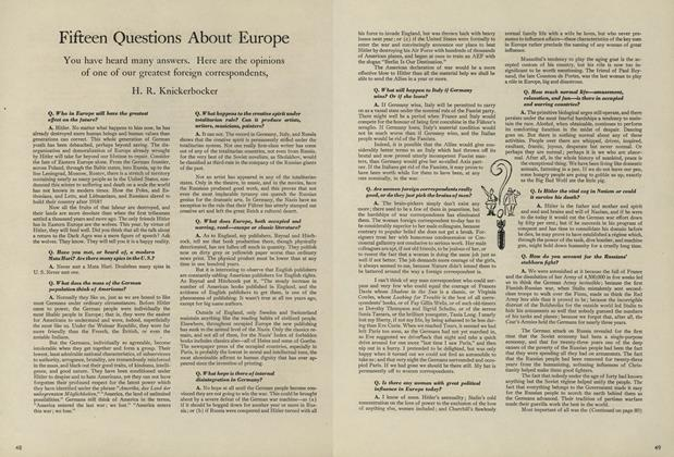 Fifteen Questions about Europe