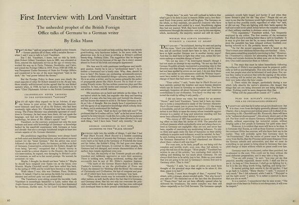 First Interview with Lord Vansittart