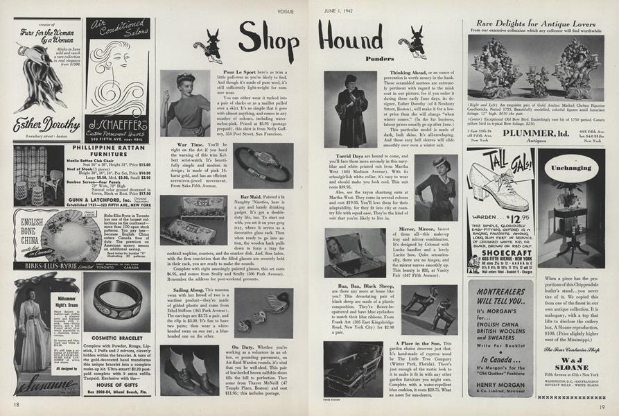 Shop Hound: Ponders