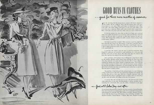 Article Preview: Good Buys In Clothes...Good for Three More Months of Summer, June 15 1942 | Vogue