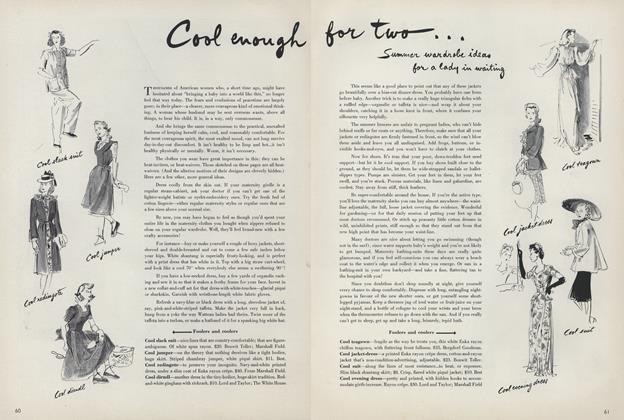 Article Preview: Cool enough for two..., June 15 1942 | Vogue