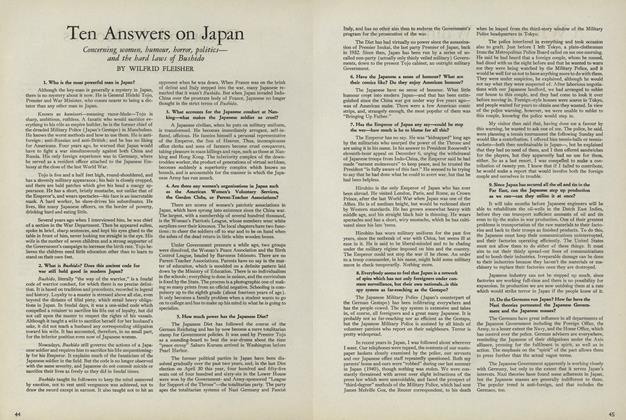 Ten Answers on Japan