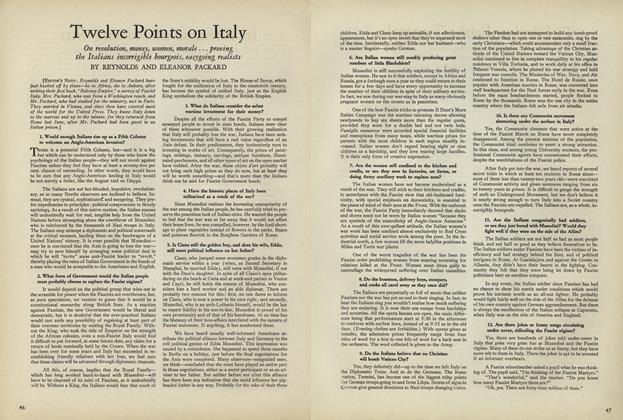 Twelve Points on Italy