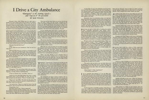 I Drive a City Ambulance