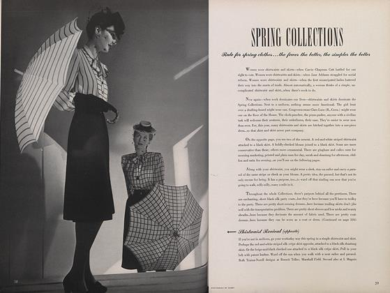 Article Preview: Spring Collections, March 15 1943 | Vogue