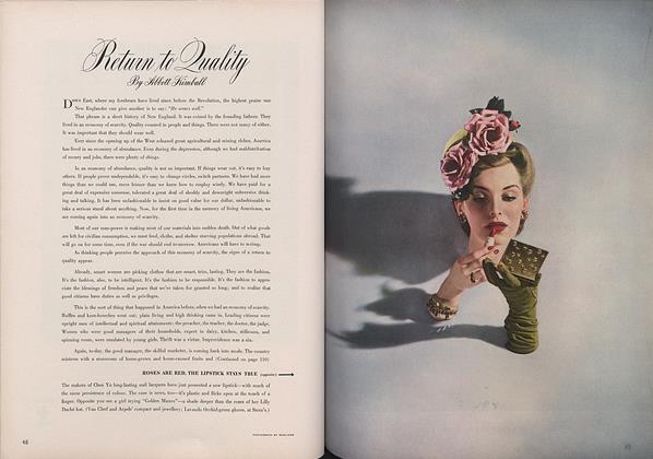 Article Preview: Return to Quality, March 15 1943 | Vogue