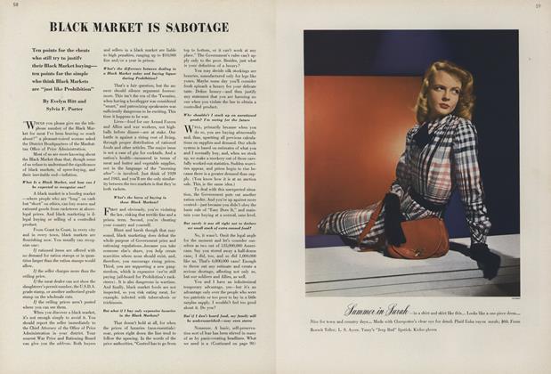 Black Market is Sabotage