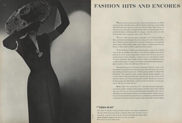 Fashion Hits and Encores