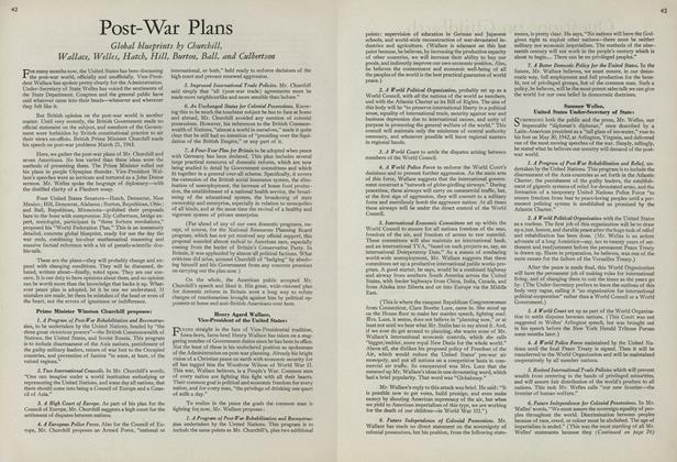 Article Preview: Post-War Plans, July 15 1943 | Vogue