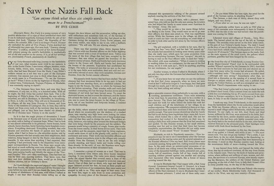 I Saw the Nazis Fall Back