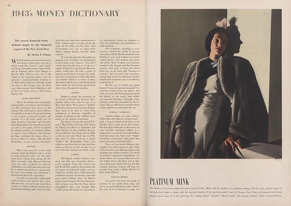 1943's Money Dictionary