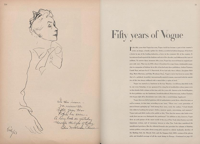 Fifty Years of Vogue