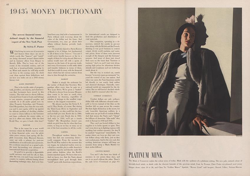 1943's Money Dictionary