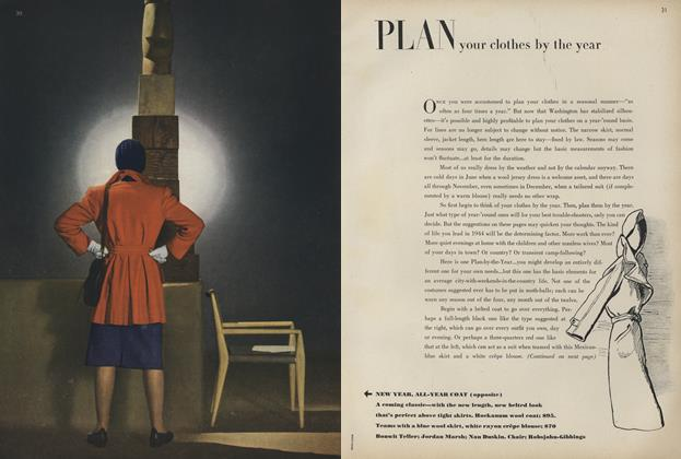 Article Preview: New Year, All-Year Coat/Plan Your Clothes by the Year, January 1 1944 | Vogue