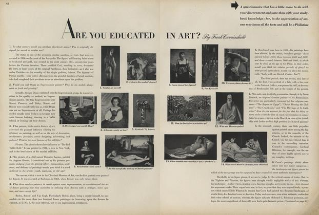 Article Preview: Are You Educated in Art?, January 1 1944 | Vogue