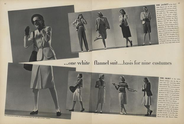 One White Flannel Suit...Basis for Nine Costumes