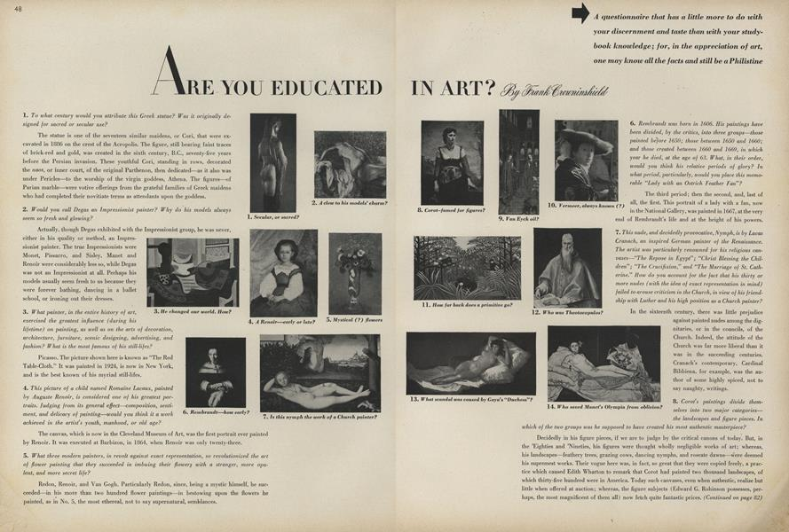 Are You Educated in Art?