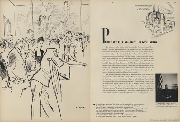 Article Preview: In Washington: The European Weather and the Allied Invasion/The Elections..., February 1 1944 | Vogue
