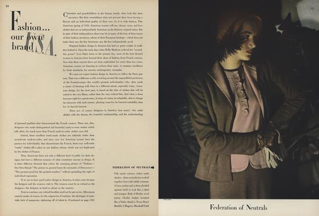 Article Preview: Our Own Brand U.S.A., February 1 1944   Vogue
