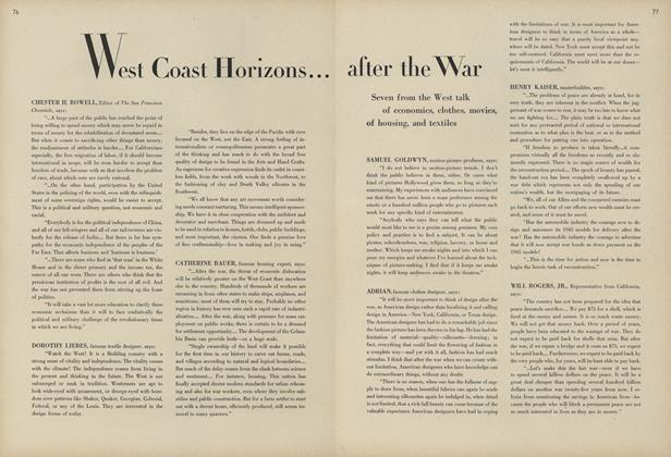 Article Preview: West Coast Horizons...After the War, February 1 1944 | Vogue