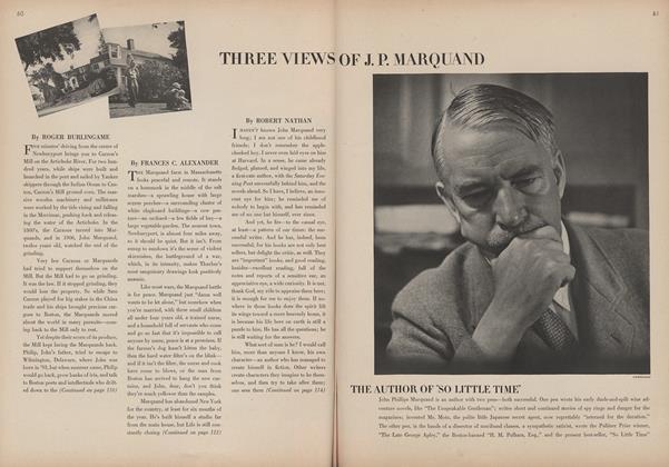 Three Views of J. P. Marquand