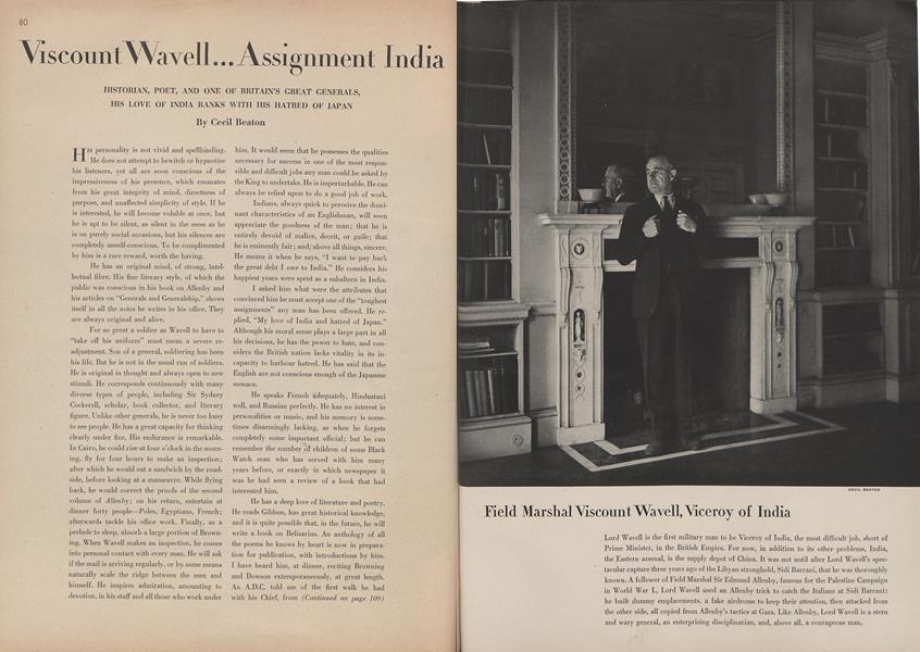 Viscount Wavell... Assignment India