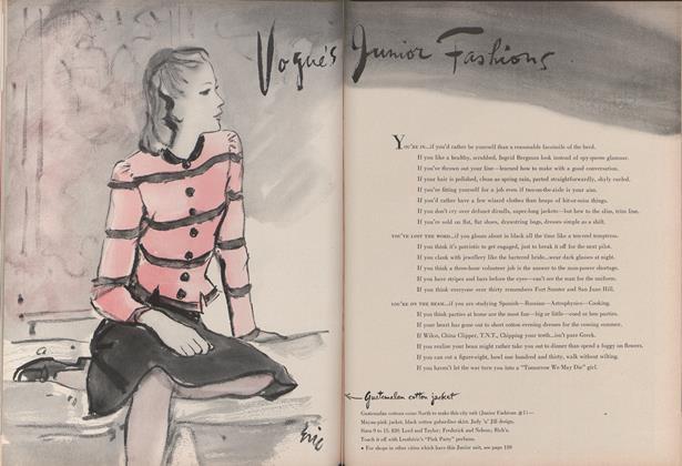 Vogue's Junior Fashions