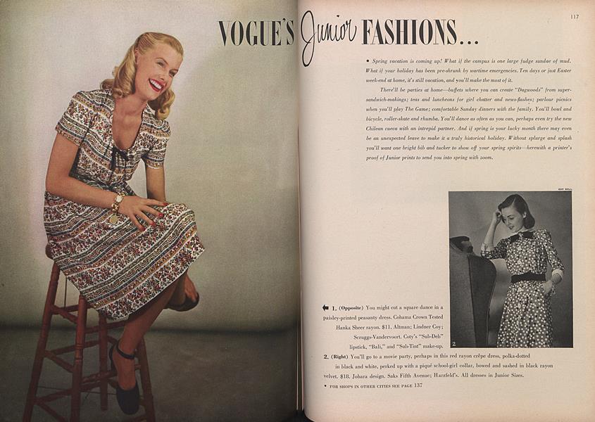 Vogue's Junior Fashions...