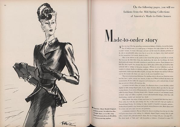 Article Preview: Made-to-Order Story, April 1 1944 | Vogue