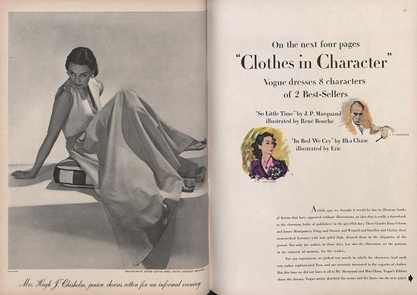 Article Preview: Clothes in Character: Vogue Dresses 8 Characters of 2 Best-Sellers, April 1 1944 | Vogue