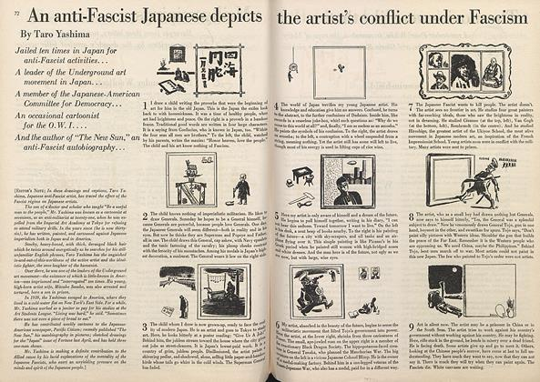 An Anti-Fascist Japanese Depicts the Artist's Conflict under Fascism