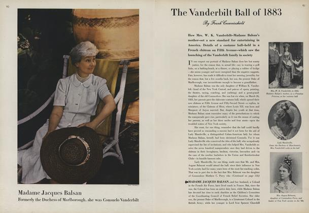 The Vanderbilt Ball of 1883