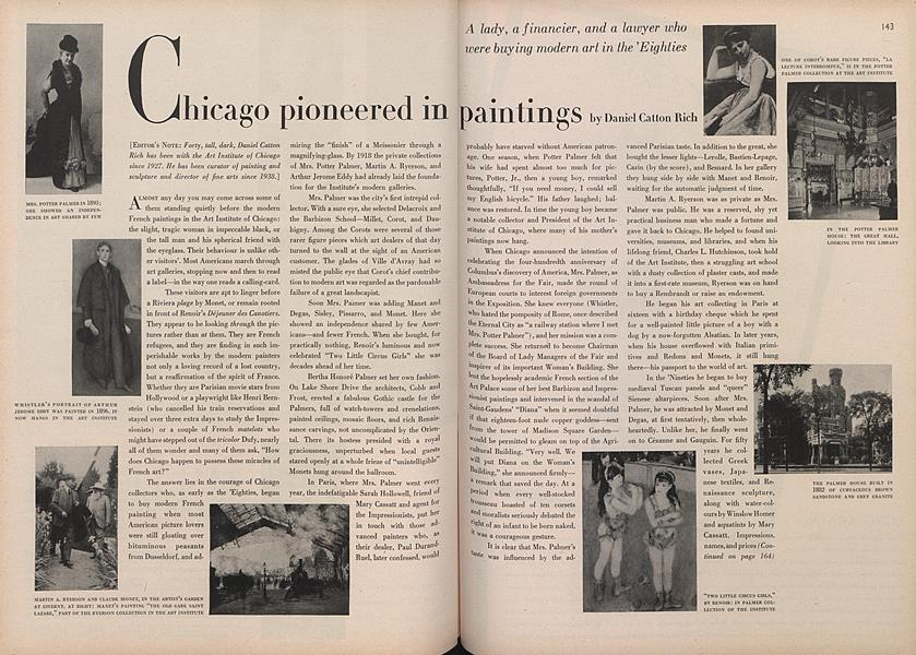 Chicago Pioneered in Painting