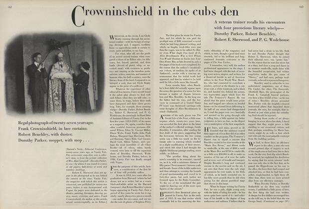 Crowninshield in the Cubs Den