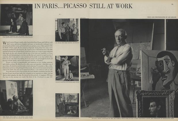 In Paris...Picasso Still at Work