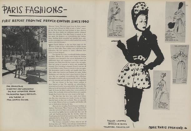 Paris Fashions: First Report from the French Couture Since 1940