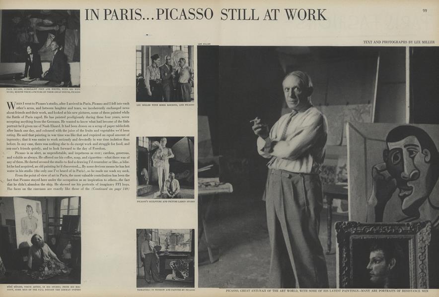 In Paris...Picasso Still at Work