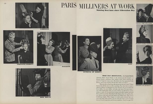 Paris Milliners at Work