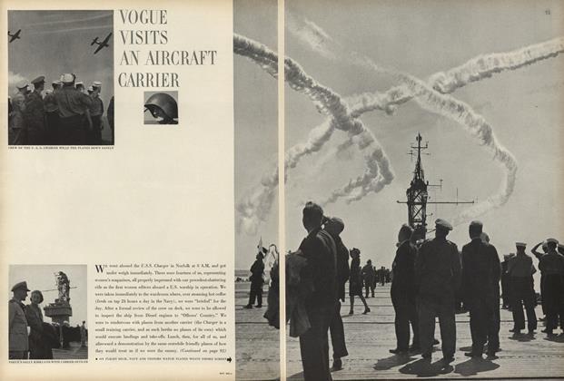 Vogue Visits an Aircraft Carrier