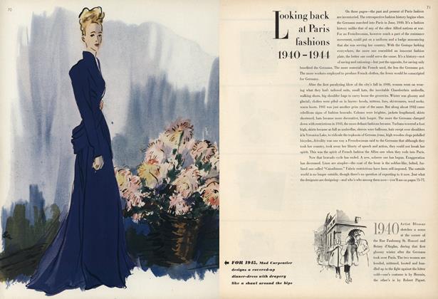 Looking Back at Paris Fashions 1940-1944