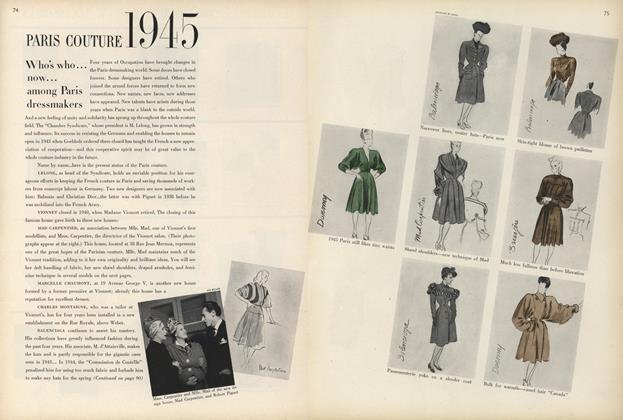 Paris Couture 1945