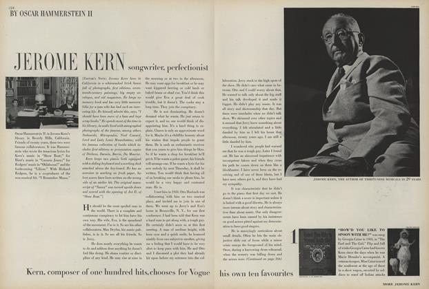 Jerome Kern: Songwriter, Perfectionist