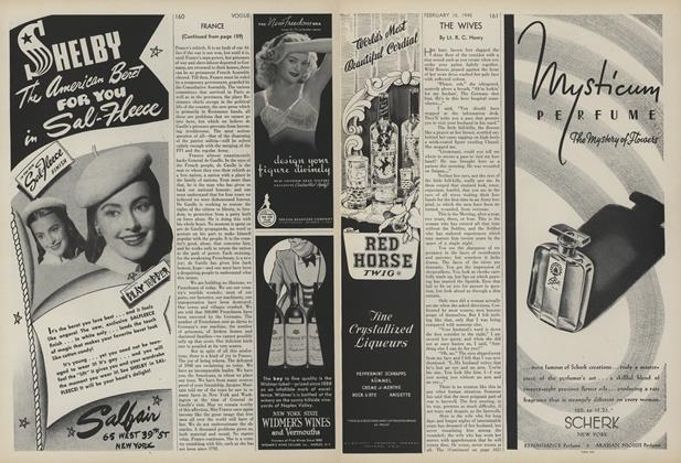 Article Preview: The Wives, February 15 1945 | Vogue