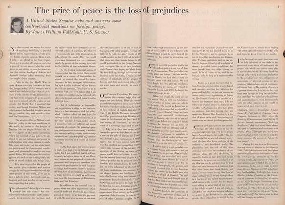 The Price of Peace Is the Loss of Prejudices