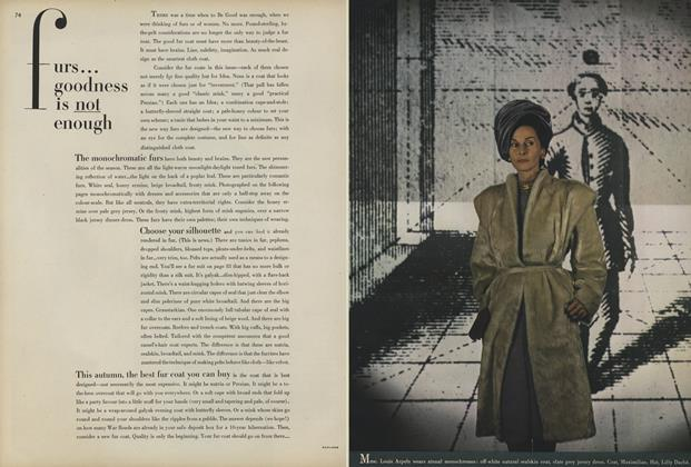 Article Preview: Furs... Goodness Is Not Enough, August 1 1945 | Vogue