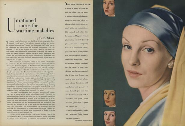 Article Preview: Unrationed Cures for Wartime Maladies, August 1 1945 | Vogue